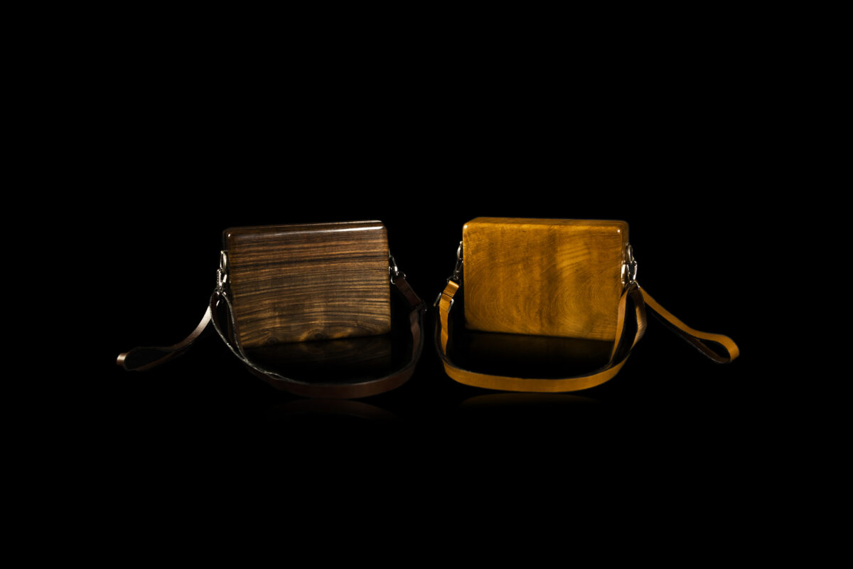 recycled wood handbags